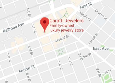 Caratti Jewelers Map